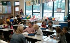 Klaslokaal met kinderen